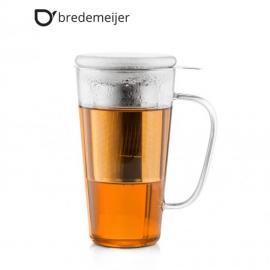 """Стъклена чаша за чай """"Rimini"""" с филтър и капак 500мл."""