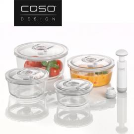 К-т от 4 бр. стъклени кутии за вакуумиране или мариноване CASO 1187 Vacuboxx
