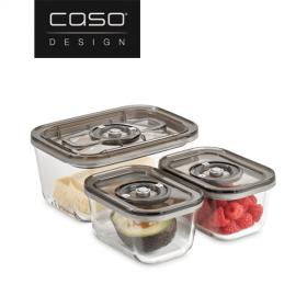 К-т от 3бр. стъклени кутии за вакуумиране или мариноване CASO ECO SET Vacuboxx 1177